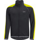GORE WEAR C3 Phantom Windstopper Zip-Off Jacket Men black/neon yellow